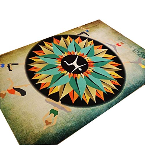 Thicken Double Yoga Rugs Rectangle Fitness Dance Mat Children's Carpet HD Printing Anti-Slip 8mm (Color : B, Size : 80x160cm)