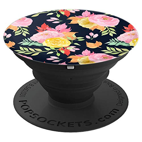 Floral Pattern Art Design Vintage Perfume - PopSockets Grip and Stand for Phones and Tablets