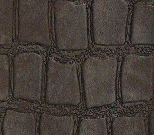 (Vinyl Upholstery Embossed Texture Fabric Croco Fake Leather 54