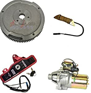 Amazon.com: NEW HONDA GX160 5.5HP ELECTRIC START KIT STARTER MOTOR FLYWHEEL ON/OFF SWITCH ...