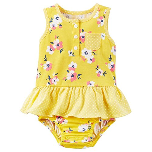 - Carters Baby Girls' Floral Skirt Romper (18 Months, Yellow)