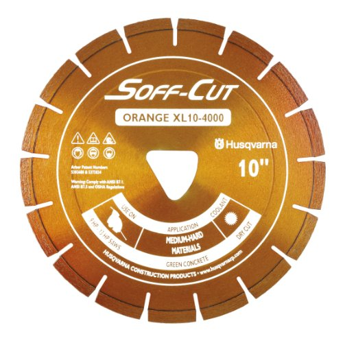 Husqvarna 542756103 Excel 4000 Series XL10-4000 Ultra Early Entry Diamond Saw Blade, 10x0.100-Inch, Orange (Early Entry Diamond Blade)