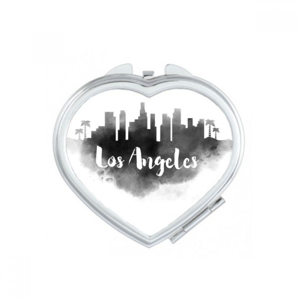Los Angeles America Ink City Heart Compact Makeup Pocket Mirror Portable Cute Small Hand Mirrors Gift