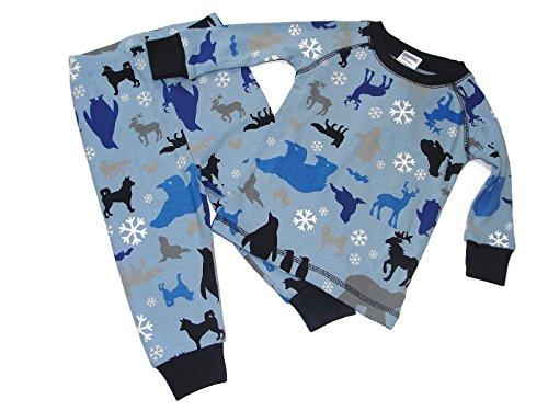 (Gymboree Baby Boy's 6-12 Months Winter Wolves, Reindeer, Snowflake Pajama Set )