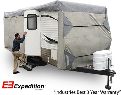 Expedition RV Trailer Cover Fits Travel Trailer 20FT thru 22FT RVs