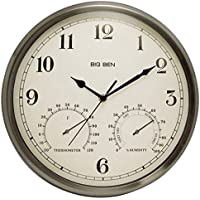 WESTCLOX 49832 Indoor/Outdoor Clock with Temperature & Humidity Gauges electronic consumer Electronics