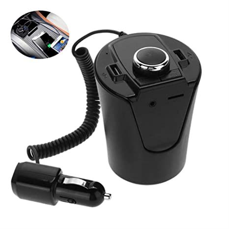 XIAOSD Coche Bluetooth Transmisor FM Copa Reproductor De MP3 ...