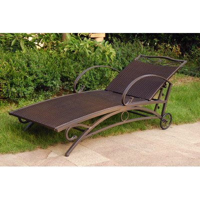 (International Caravan Valencia Patio Chaise Lounge in Antique Brown )