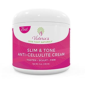 Slim & Tone Anti Cellulite Cream Firming Lotion Botanical Defense Skin Tightening Reduce Sagging Loose Skin Dimples Buttocks Legs Stomach Plus Exclusive Diet and Recipe Guide Free 51LbriZkkVL
