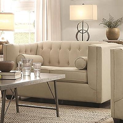 Coaster 504905 Home Furnishings Love Seat, Oatmeal