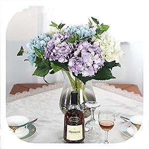 Memoirs- 1 Piece Artificial Flowers Peony Bouquet for Wedding Decoration Fake Flowers Home Decor Silk Hydrangeas Flower 66