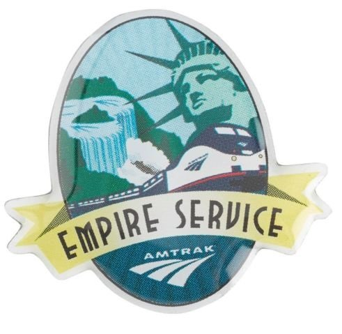 Amtrak Collector Edition Empire Service Acrylic Photo Dome Lapel Hat Pin NYC to Albany (Dome Lapel Pin)