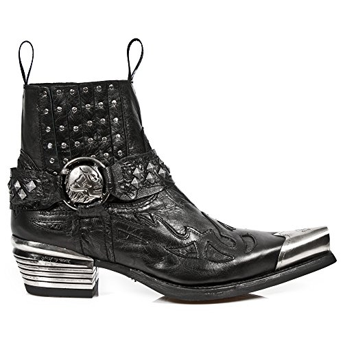 New Rock Black Leather M.7950P S1 Men Dallas Available on 35 days Dallas Ready-Stock