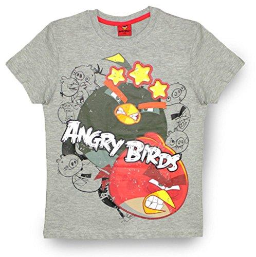 Garçon T Gris Birds Angry Blanc shirt pHq7AzwAt