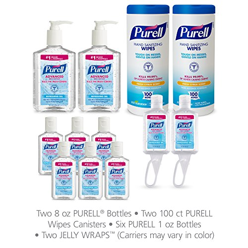 PURELL 9652-K1 Advanced Hand Sanitizer and Sanitizing Wipe Kit ()