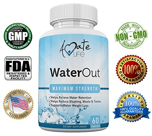 Amate-Life-Water-Out-Herbal-Diuretic-Water-Draining-Supplement-Water-Retention-Relief-Bloating-Relief-Weight-Loss-Supplement-Natural-Detox-Dietary-Capsules-Non-GMO-Natural-Healthy-Diet