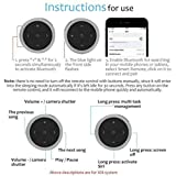 Onewell Bluetooth Audio Adapter,Car Bluetooth Media Button Audio Steering Wheel Remote Control,Compatible with iPhone 11 Plus Max/11 Plus/11, Xs Max/XS