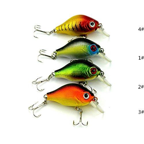 GUAITAI 4pcs Rock Fishing Lures Baits Crankbaits 8# Hooks Plastic Hard Lures 5.5cm/8g (4pcs/Lot)