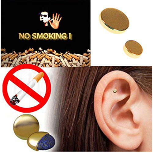 Quit Smoking Ear Magnet Cigarettes Magnetic Ear Acupressure Zero Stop Smoke by MYEDO (Image #1)
