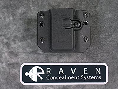 Raven Concealment Systems RCS Copia 9 40 357 Single Universal Magazine Ambedextrous OWB Holster, Short Profile MD Cut Mag Carrier