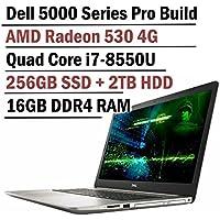 Dell Inspiron 5000 Series 17.3 Inch Full HD Business Laptop (8th Gen Intel Quad Core i7-8550U, 16GB DDR4 Memory, 256GB SSD + 2TB HDD, 4GB AMD Radeon 530, Backlit Keyboard, Windows 10 Professional)