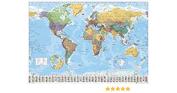 Amazon Com Political Map Of The World Giant Xxl Poster Print