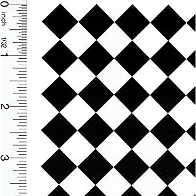 Dollhouse Wallpaper Tile Diamond Black & White (.5 inch): Toys & Games