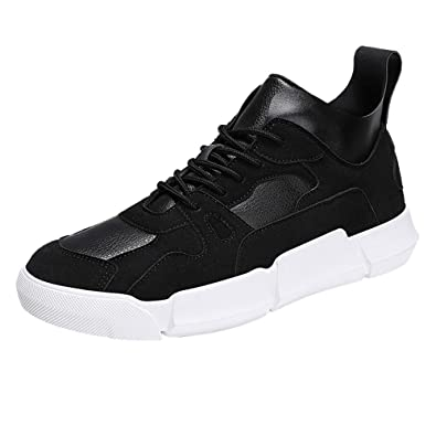 ff62f914c508c Men Boys Casual Sneakers Sports Running Breathable Flat Patchwork Lace-up  Shoes,Suede Boots