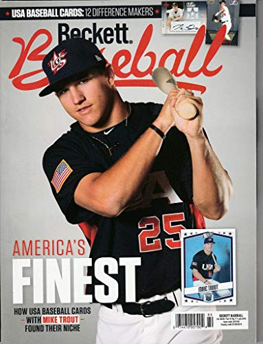 July 2019 Beckett Baseball Price Guide Magazine Vol 19 No 7 Mike Trout Angels