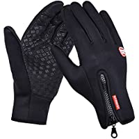 DGBAY Cycling Touch Screen Outdoor Gloves Waterproof Outdoor Jogging Skiing Hiking Running