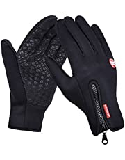 DGBAY Cycling Touch Screen Outdoor Gloves Waterproof Outdoor Jogging Skiing Hiking Running (M Size)