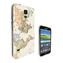 178 - Cool Fun World Map The World Look Design Samsung Galaxy S5 / S5 Neo fashion Trend CASE Gel Rubber Silicone All Edges Protection Case Cover