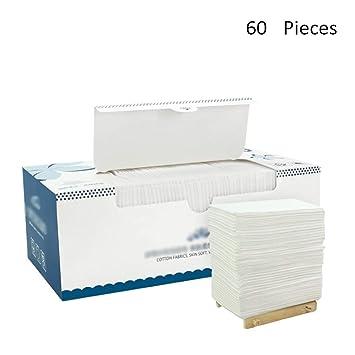 Desinfectantes de Maquillaje para Rostro de Belleza Toalla desechable de algodón Toallas de Limpieza de Viaje Toallitas de algodón de Maquillaje Toallita ...
