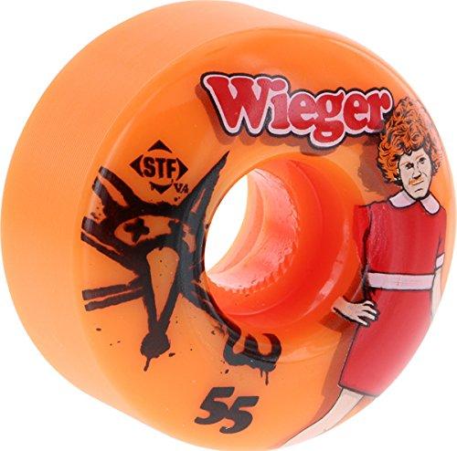 シェルター圧力後方Bones STF Pro Wieger Annie 55mm Orange Skateboard Wheels (Set Of 4) by Bones Wheels