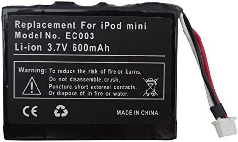Replacement Battery for Apple iPod Mini