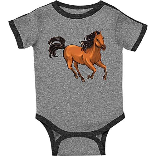(inktastic - Wild Mustang Infant Creeper 18 Months Ringer Heather and Smoke)