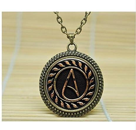 Amazon atheist symbol necklace atom pendant atheist jewelry atheist symbol necklace atom pendant atheist jewelry no religion necklace 1 aloadofball Choice Image