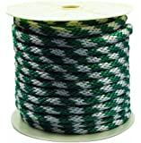 Rope King SBP-58140GW Solid Braided Poly Rope - Green / White - 5/8 inch x 140 feet
