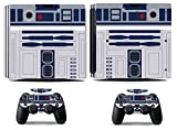 MightyStickers - R2D2 Robot Star Wars PS4 Pro Console Wrap Cover Skins Vinyl Sticker Decal Protective for Sony PlayStation 4 Pro & Controller