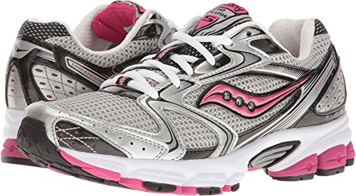 Saucony Women's Grid Stratos 5 Silver/Black/Pink Athletic Shoe