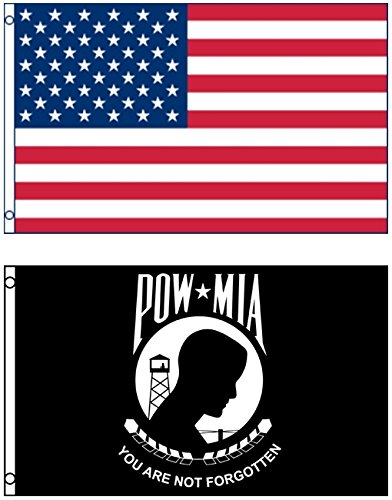 Mission Flags 3x5 ft. US American and US POW MIA You Are Not