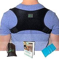 Posture Corrector for Men & Women That Provide Back Support Brace, Improve Thoracic Kyphosis, Prevent Slouching | Under Clothes Upper Back Brace | Adjustable Size(XL)
