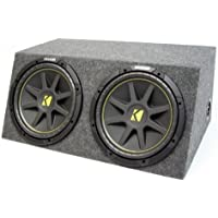ASC Package Dual 15 Kicker Sub Box Sealed Hatch Subwoofer Enclosure C15 Comp 1000 Watts Peak