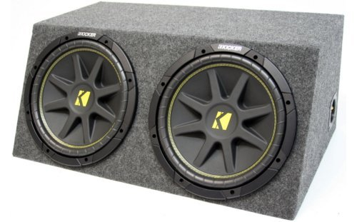 ASC Package Dual 12″ Kicker Sub Box Sealed Hatch Subwoofer Enclosure C12 Comp 600 Watts Peak