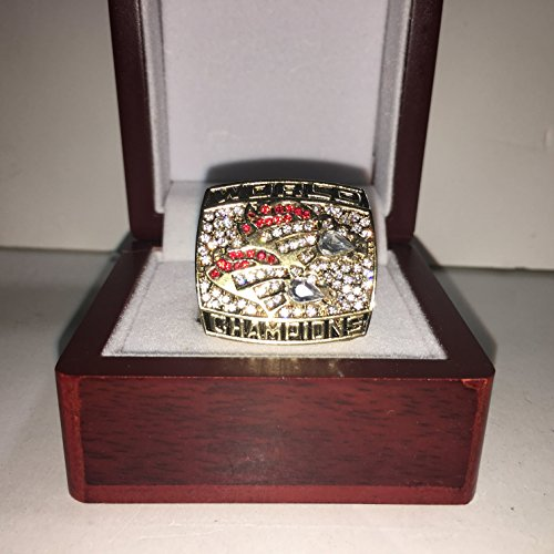 Memorabilia John Denver (Denver Broncos John Elway High Quality Replica Back-to-Back 1999 Super Bowl XXXIII Championship Ring Size 10.5-Gold Colored)