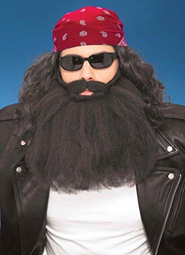 Forum Novelties Beard Moustache Black
