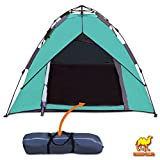 Strong Camel Automatic Camping Tent 3-4 Person Pop Up Canopy w 2 Doors Double Layer Family
