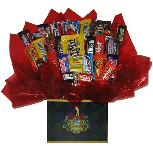 Chocolate Candy bouquet in a Golf Crest gift box