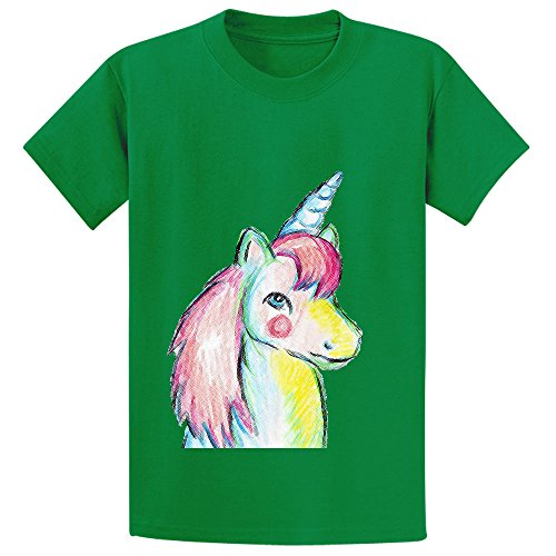 Mcol Unicorn Pony Child Crew Neck Customized T Shirt Green