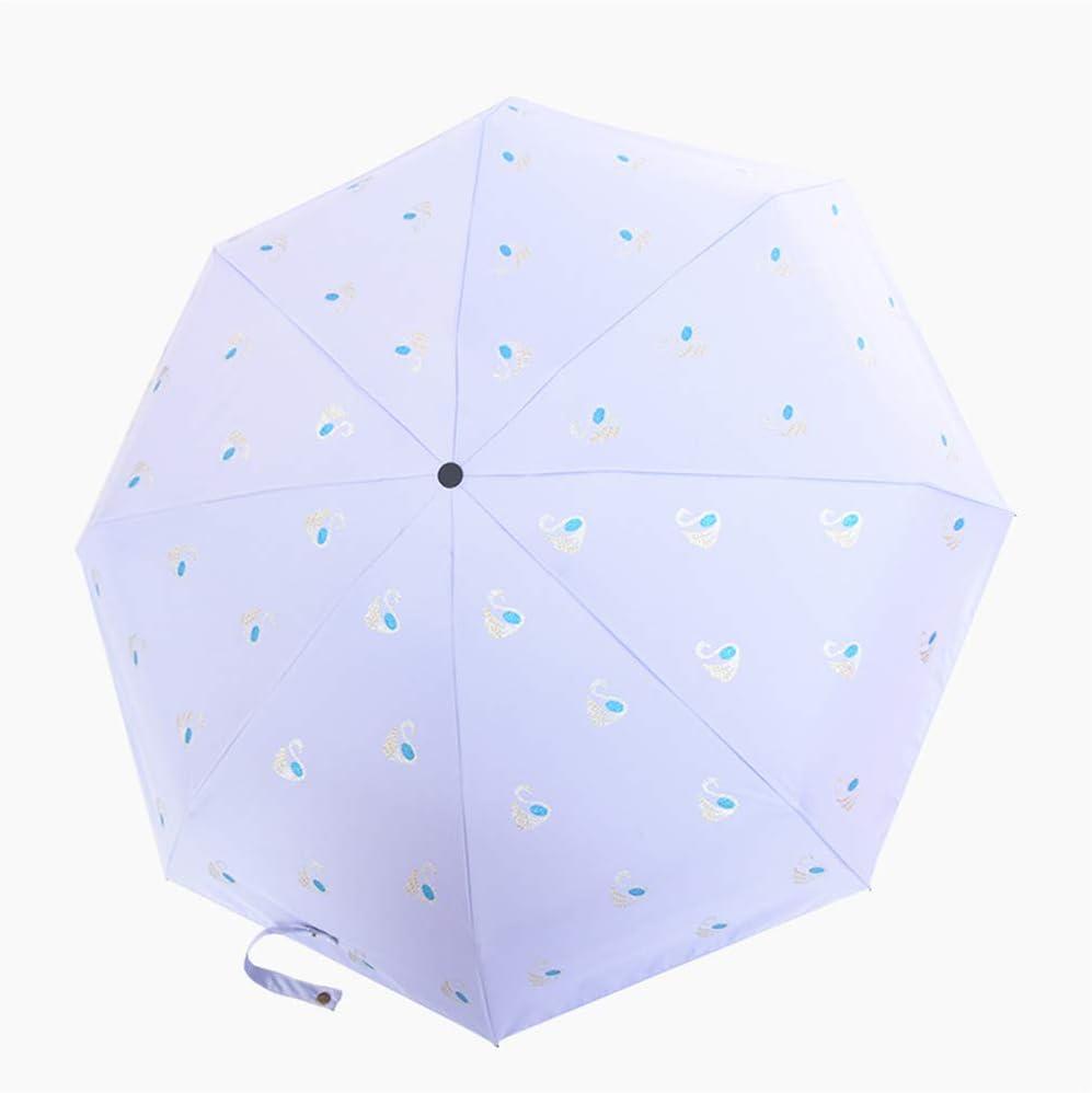 JUNDY Paraguas portátil Mini Plegable Resistente al Viento – Duradero Paraguas de Viaje Sombrilla de Cinco Pliegues Mini Bolsillo Compacto Paraguas color4 92cm: Amazon.es: Hogar